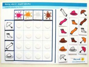 Jiný svět Barvy - věci 2. Logická tabulka na třídění (24 kartiček)