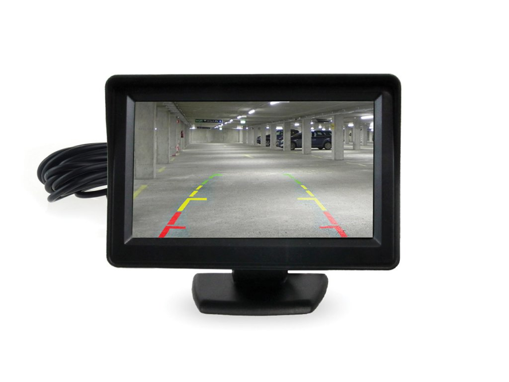 """Displej LCD 4,3 """" pre parkovacie asistenty s kamerou"""