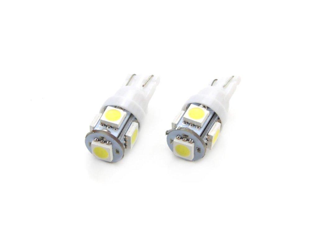 LED žiarovky STANDARD T10 W5W 5xSMD 5050 12V