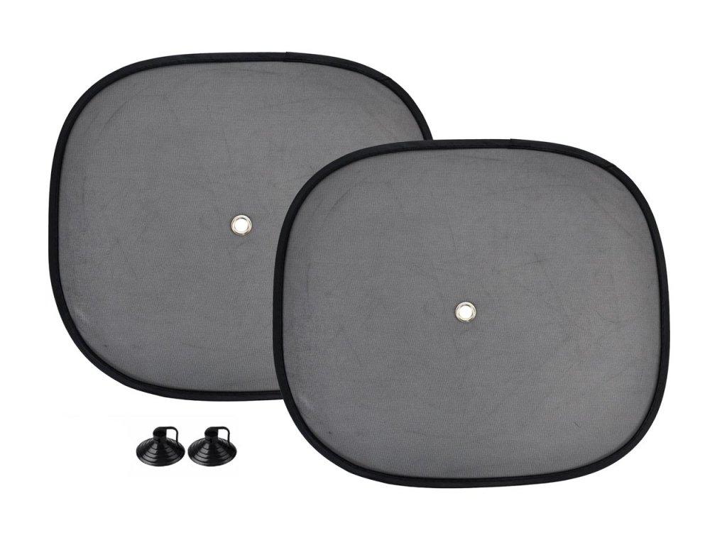 Bočné slnečné clony - čierne 44x38cm 2ks