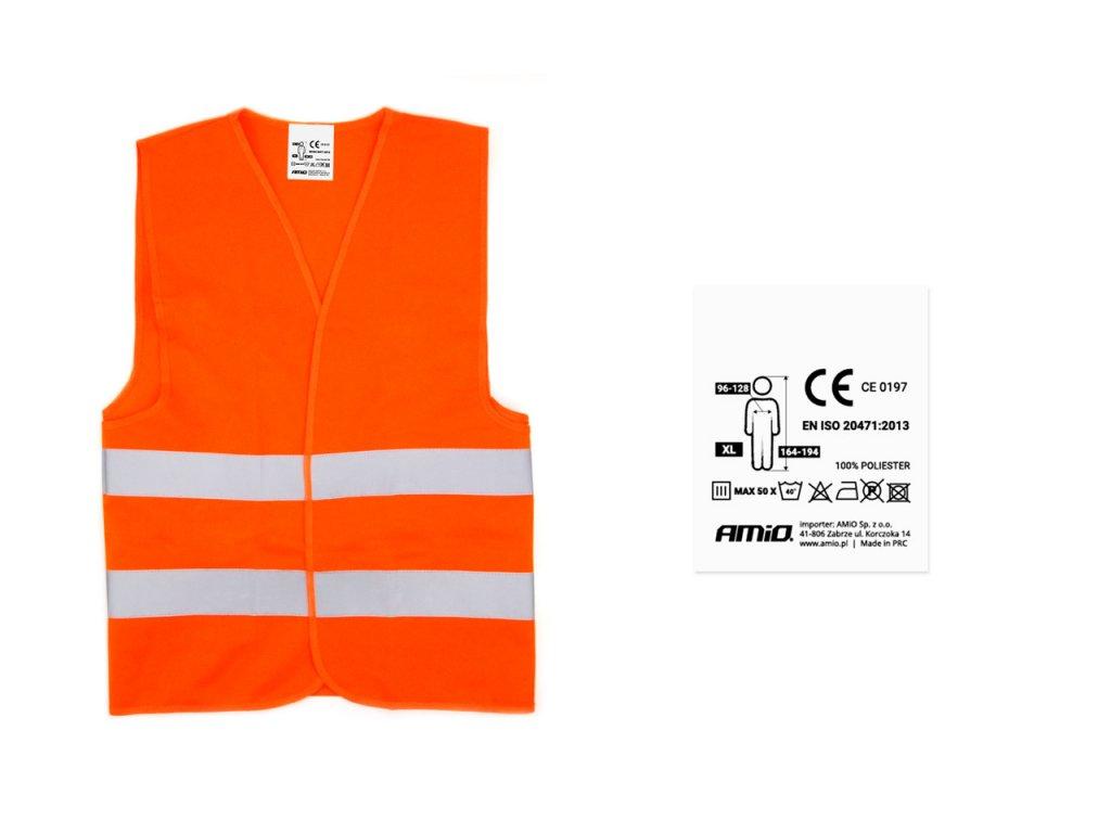 Výstražná vesta oranžová SV-02 z certifikátom