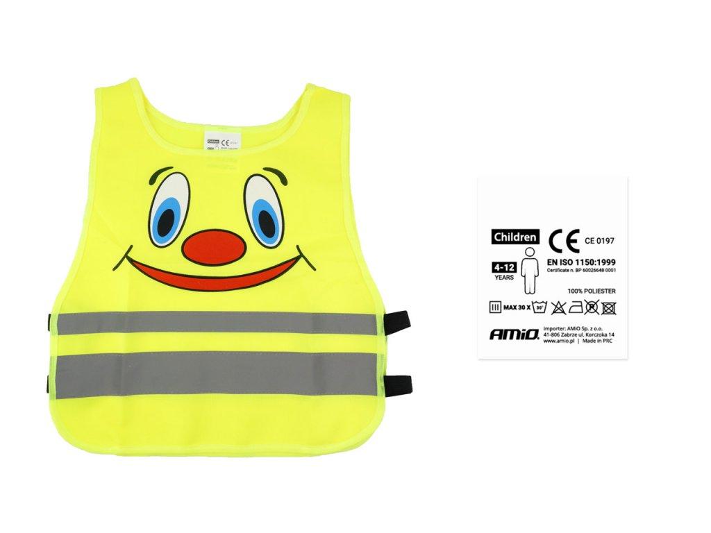 Výstražná vesta detská žltá SVK-04 s certifikátom