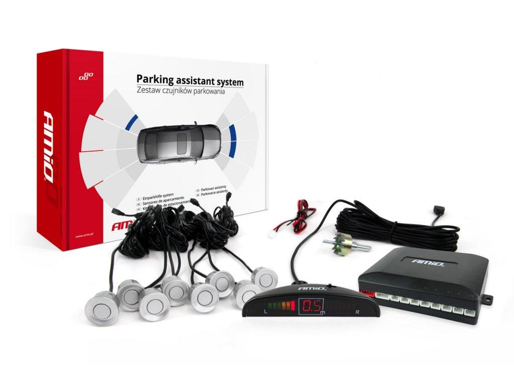 Asistenty parkovania LED 8-senzorové strieborné
