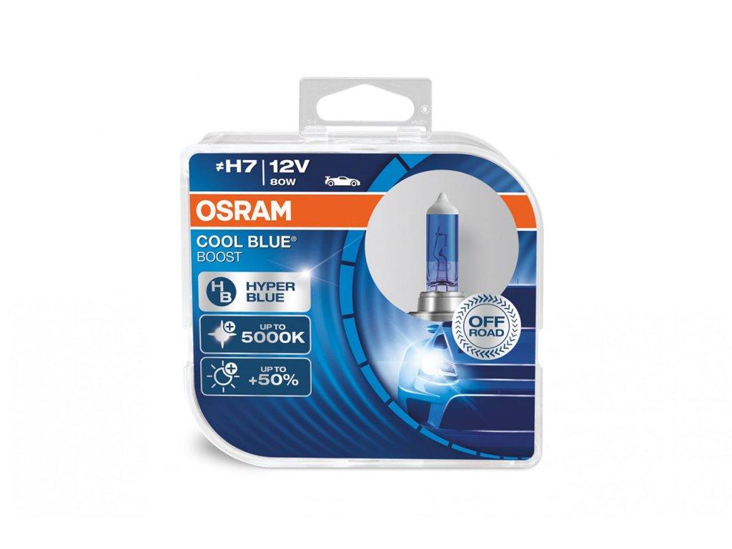 Halogénové žiarovky Osram H7 12V 80W PX26d Cool Blue Boost 5000K 2 ks