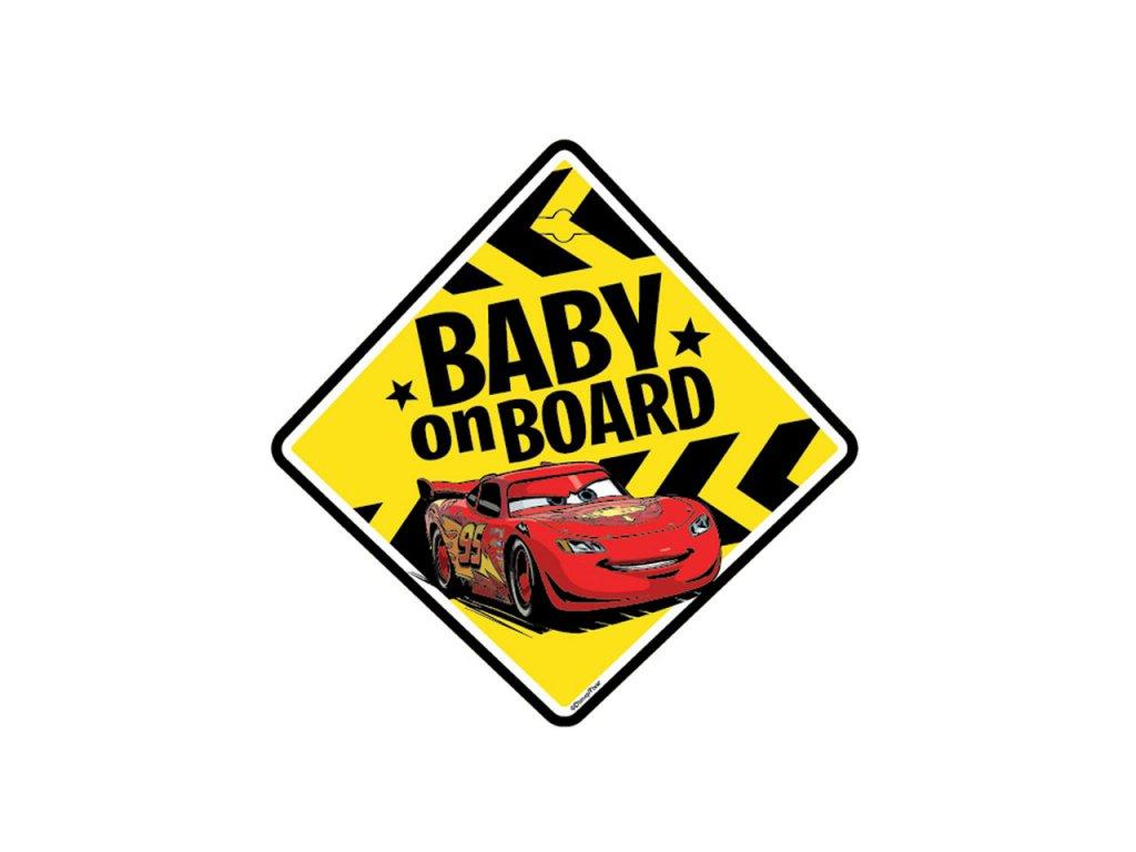 Tabuľka do auta - Dieťa v aute - BABY ON BOARD CARS