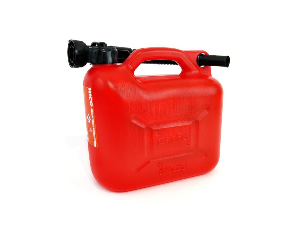 Kanister na benzín plastový 5L