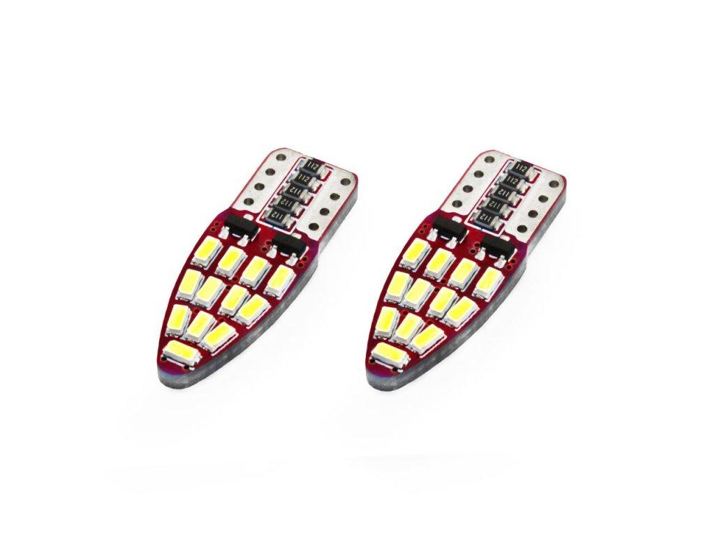 LED žiarovky CANBUS 24SMD 3014 T10e (W5W) White 12V