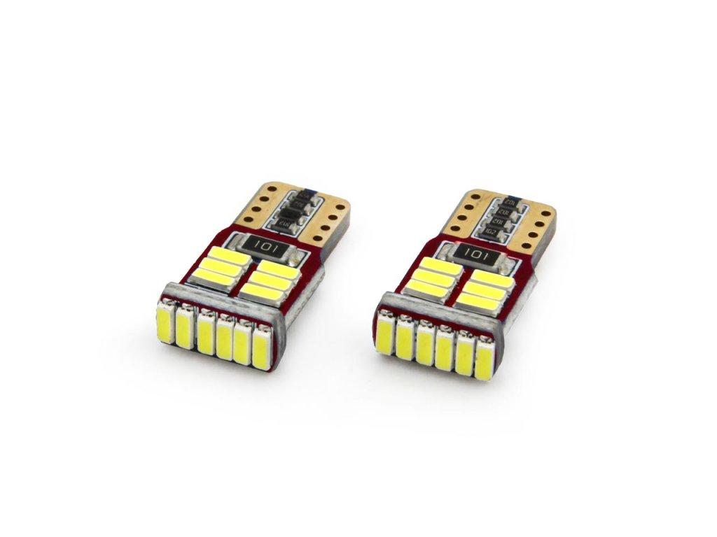 LED žiarovky CANBUS 18SMD 4014 T10e (W5W) White 12V