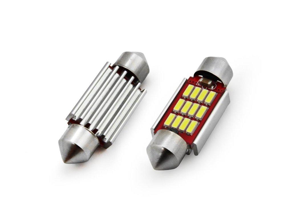 LED žiarovky CANBUS 12SMD 4014 Festoon 39mm White 12V/24V