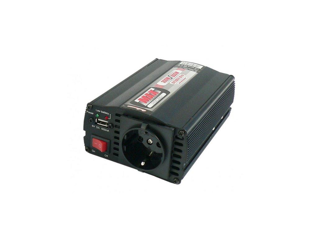 Menič napätia s USB 12V/230V 300W/600W