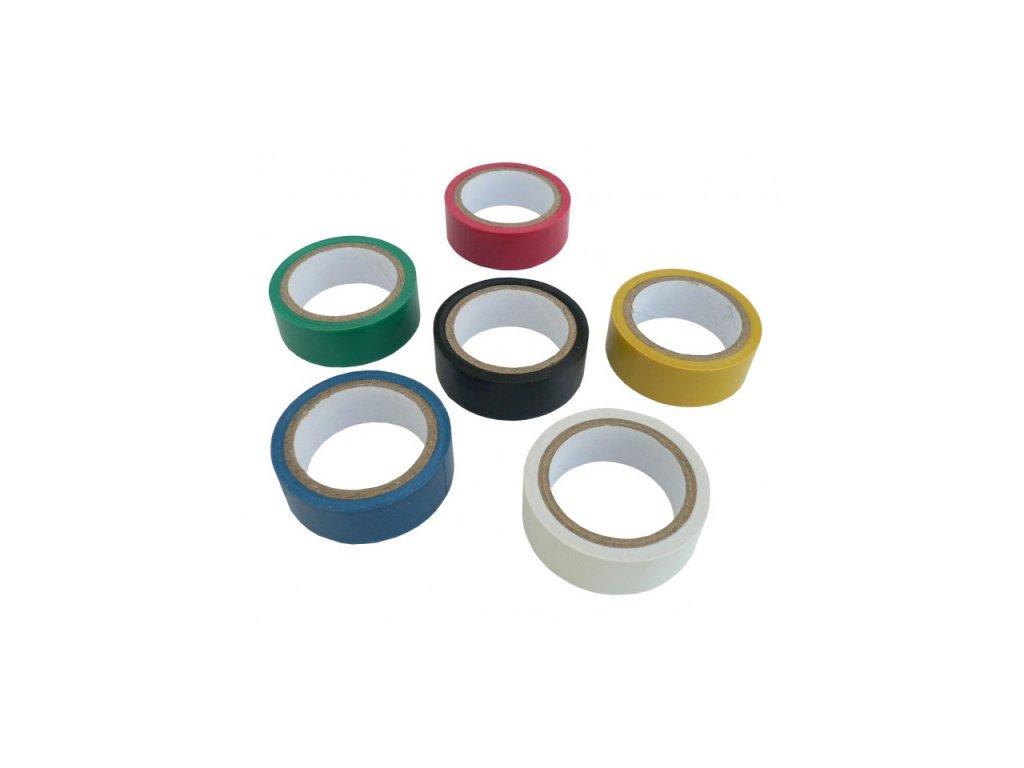 Izolačná páska farebná - balenie 6 ks