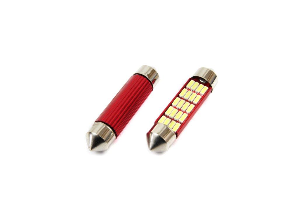 LED žiarovky CANBUS 12SMD 4014 Festoon 41mm White 12V/24V