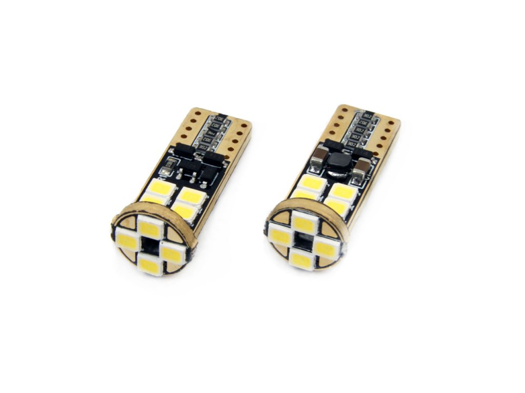 LED žiarovky CANBUS 12SMD 2835 T10e (W5W) White 12V/24V