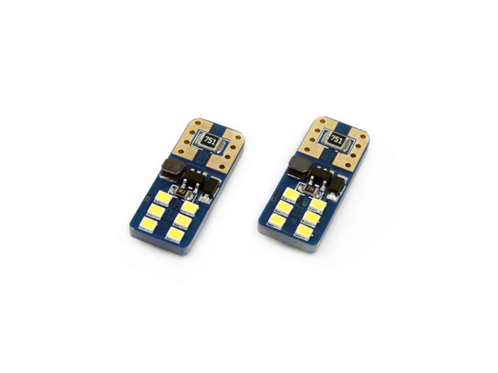 LED žiarovky CANBUS 12SMD UltraBright 2016 T10e (W5W) White 12V/24V