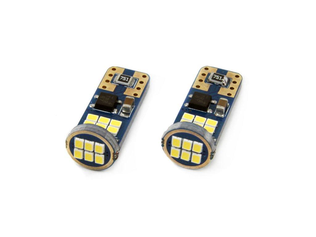 LED žiarovky CANBUS 18SMD UltraBright 2016 T10e (W5W) White 12V/24V