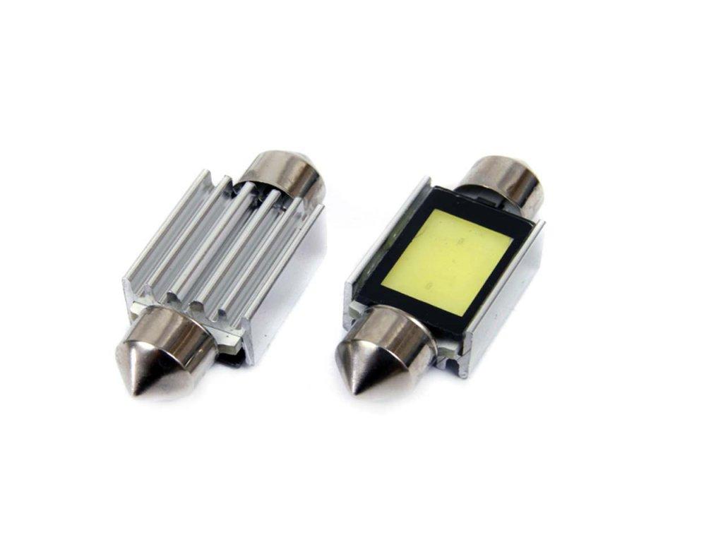 LED žiarovky CANBUS COB2 Festoon 36mm White 12V