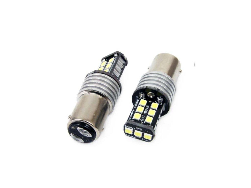 LED žiarovky CANBUS 15SMD 2835 7,5W 1157 (P21/5W) White 12V/24V