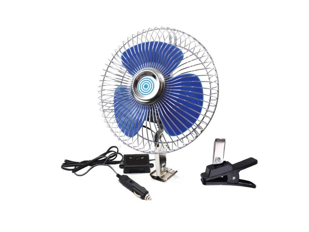 Ventilátor do auta kovový 12V