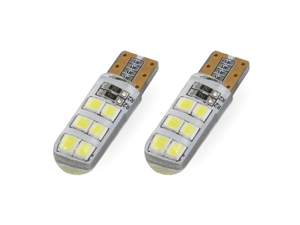 LED žiarovky STANDARD T10 W5W 12xSMD 2835 12V Silca