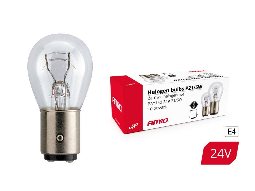 Halogénové žiarovky P21/5W BAY15D 24V 21W/5W 10ks