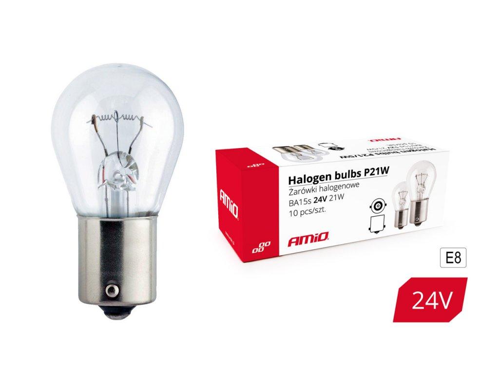 Halogénové žiarovky P21W BA15s 24V 10ks