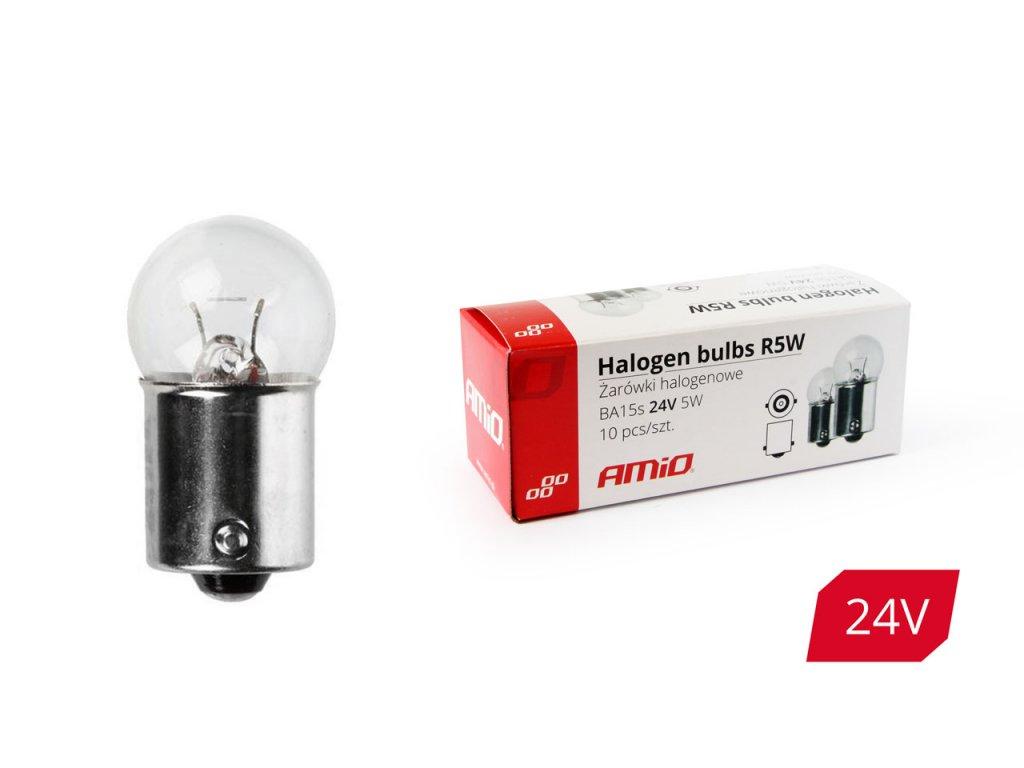 Halogénové žiarovky R5W BA15s 24V 10ks