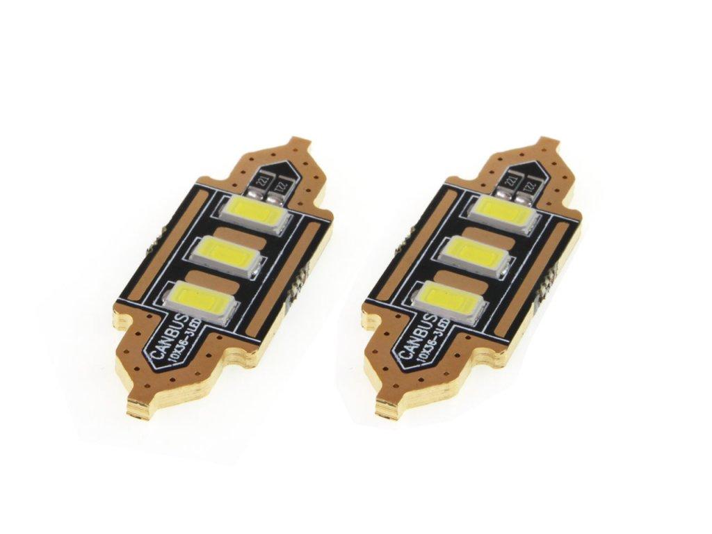 LED žiarovky STANDARD White FESTOON C5W 12V 36mm 5730 3LED
