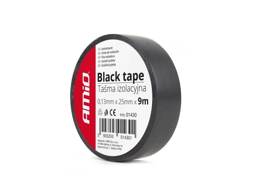 Izolačná páska, čierna 25mm x 9m