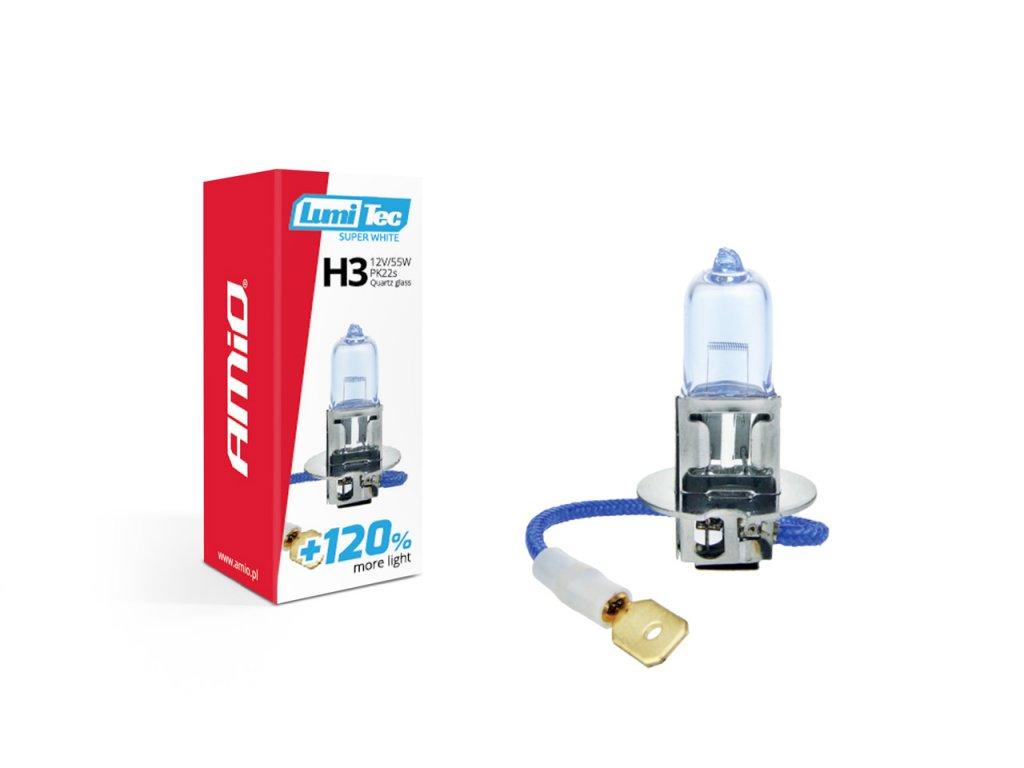 Halogénová žiarovka H3 12V 55W LumiTec SuperWhite +120%