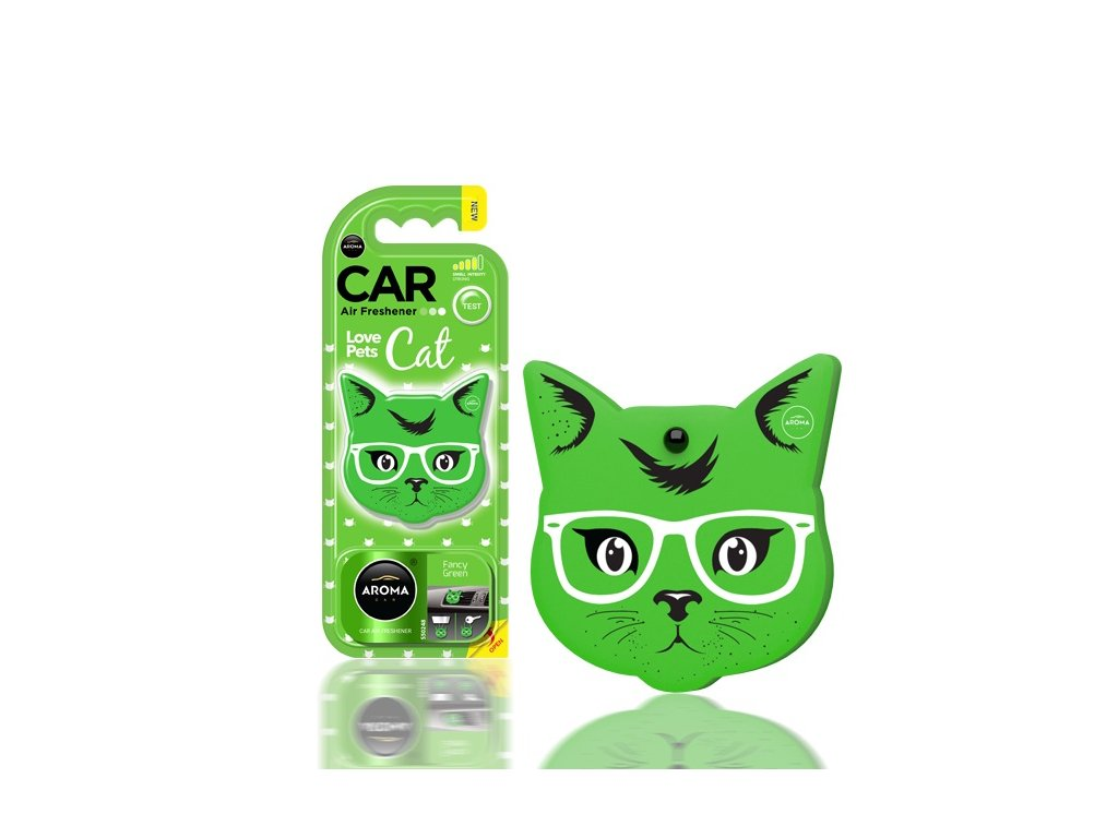 Osviežovač vzduchu AROMA CAR CAT Fancy Green - Polymér