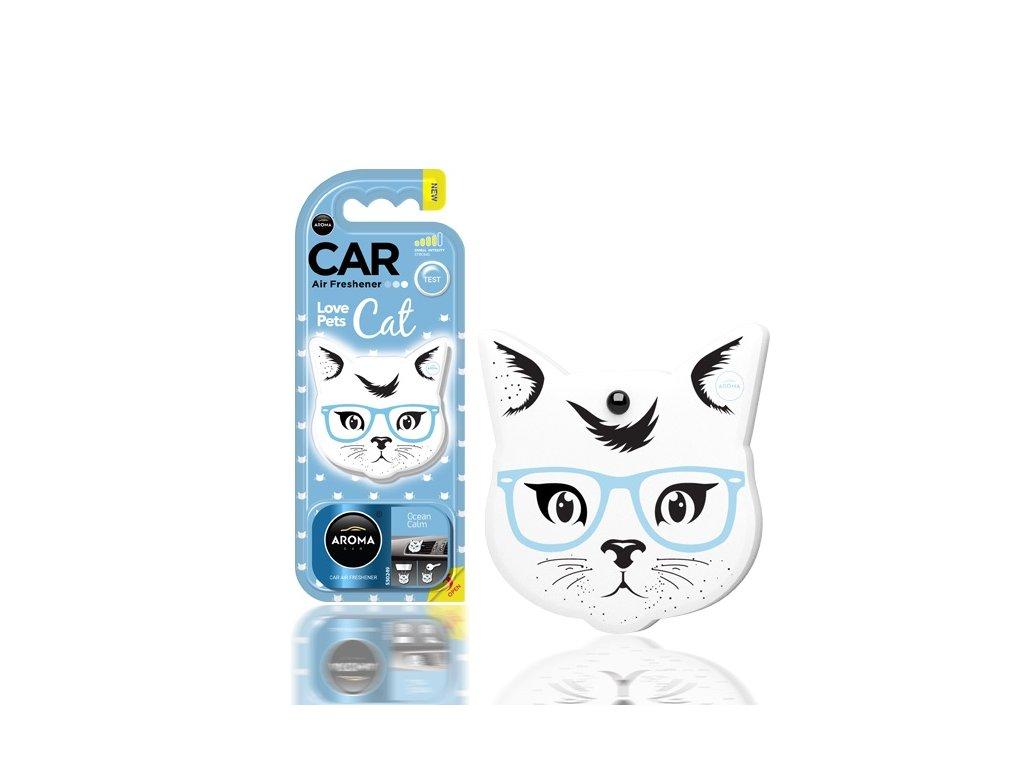 Osviežovač vzduchu AROMA CAR CAT Ocean Calm Polymér