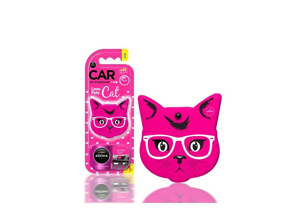 Osviežovač vzduchu AROMA CAR CAT Pink Blossom Polymér