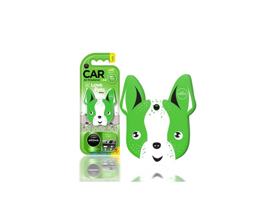 Osviežovač vzduchu AROMA CAR DOG Fancy Green Polymér