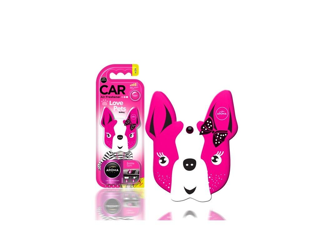 Osviežovač vzduchu AROMA CAR DOG Pink Blossom Polymér