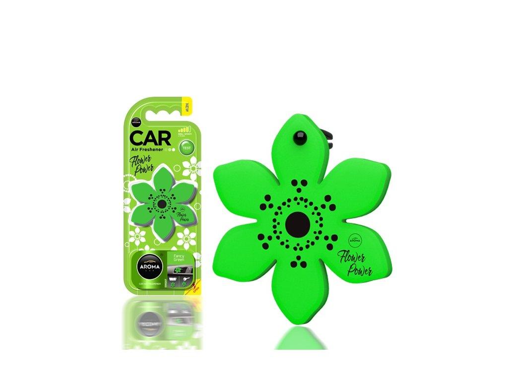 Osviežovač vzduchu AROMA CAR FLOWER POWER Fancy Green Polymér