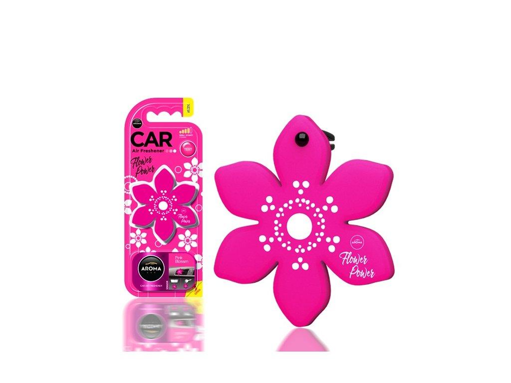 Osviežovač vzduchu AROMA CAR FLOWER POWER Pink Blossom Polymér