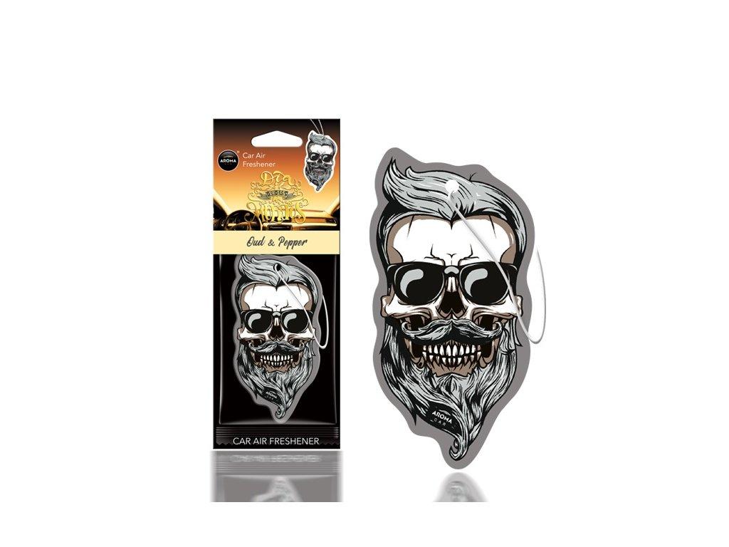 Osviežovač vzduchu AROMA CAR DIA DE LOS MUERTOS Oud&Pepper Skull