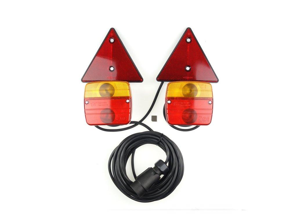 Sada zadných magnetových svietidiel pre prívesný vozík
