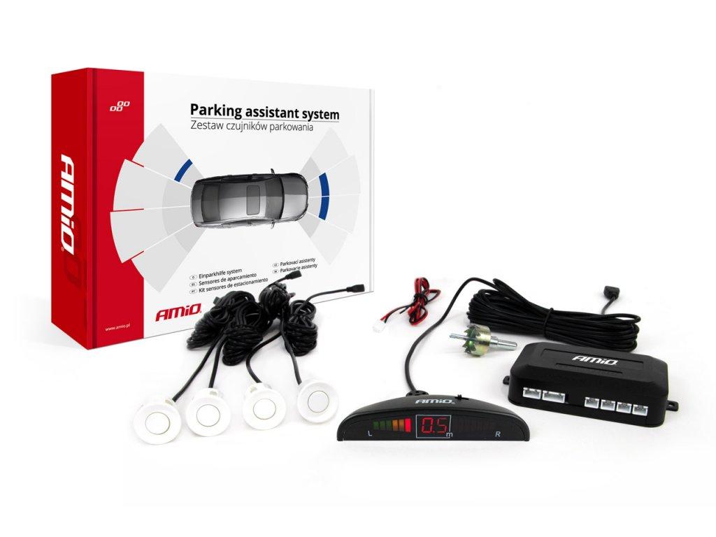 Asistenty parkovania LED 4-senzorové, biele
