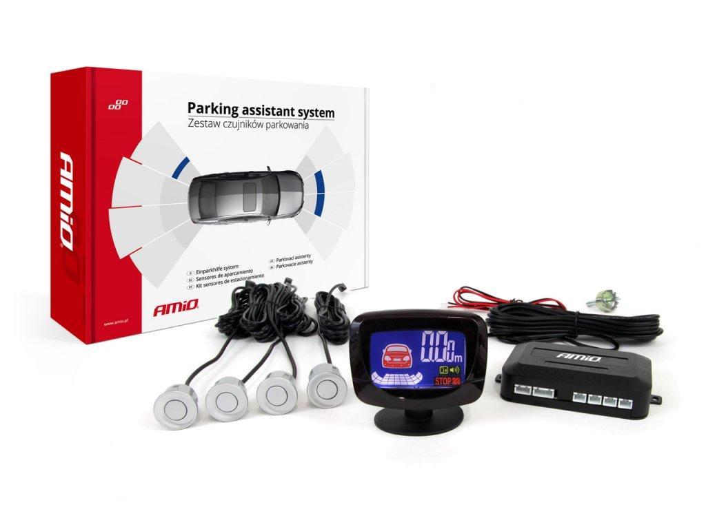 Asistenty parkovania LED-GRAF 4-senzorové, strieborné