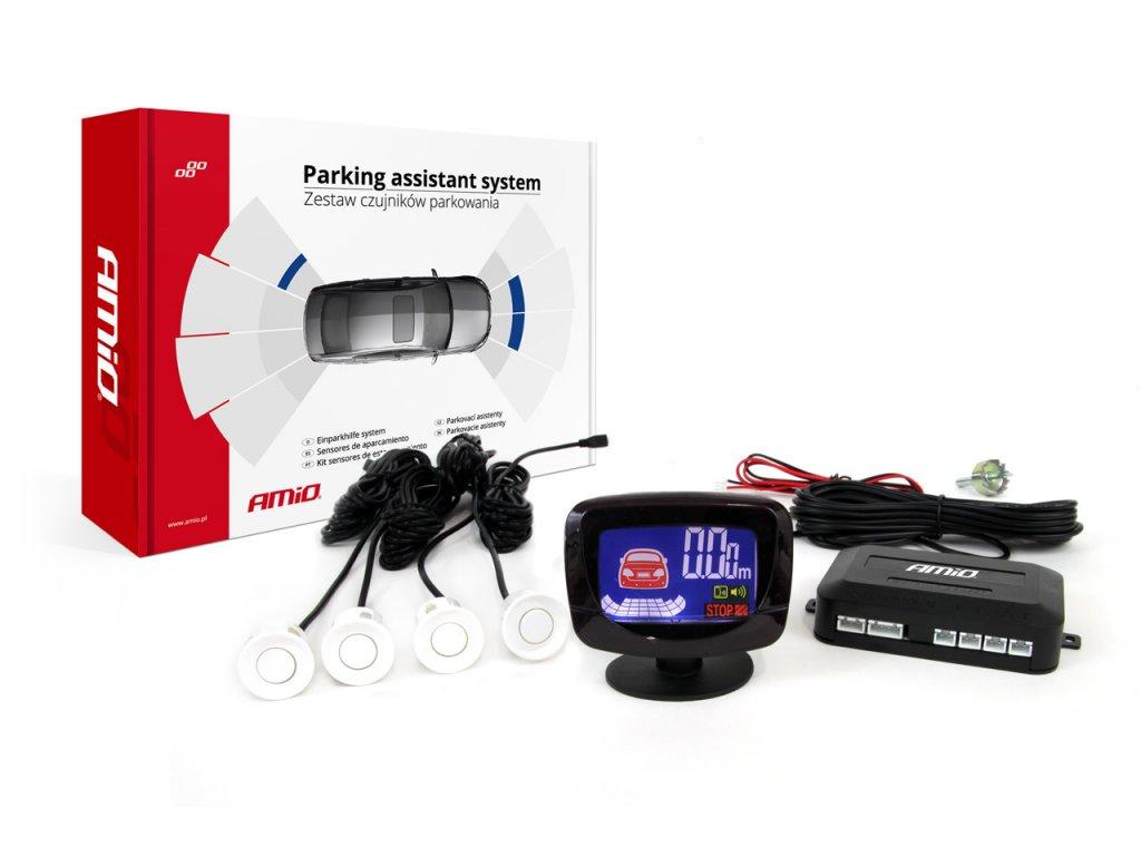 Asistenty parkovania LED-GRAF 4-senzorové, biele