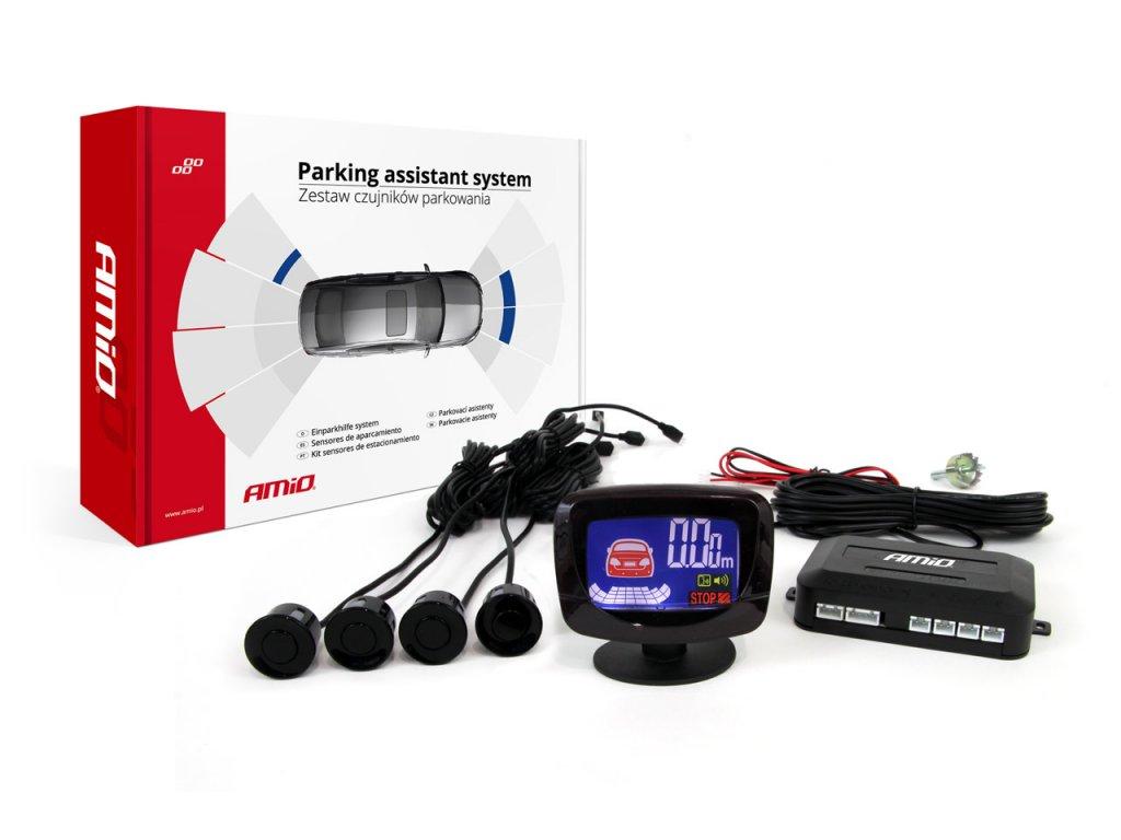 Asistenty parkovania LED-GRAF 4-senzorové, čierne