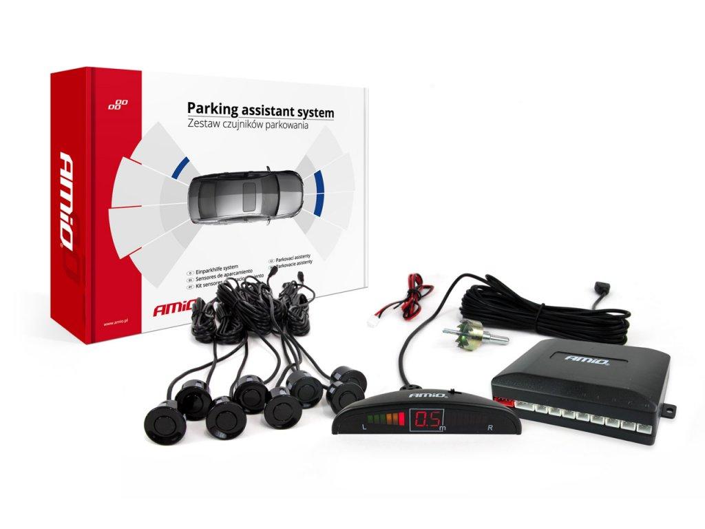 Asistenty parkovania LED 8-senzorové, čierne