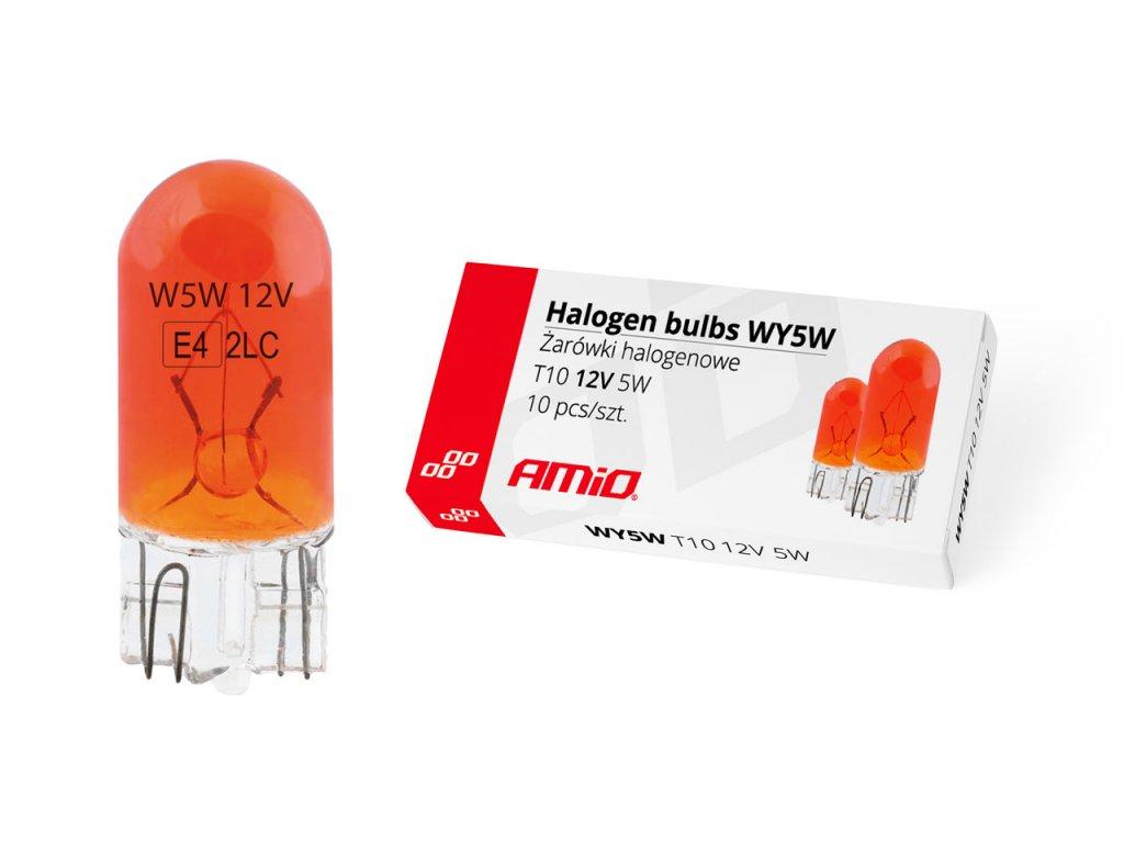 Halogénové žiarovky WY5W T10 5W W2.1x9.5d AMBER 12V