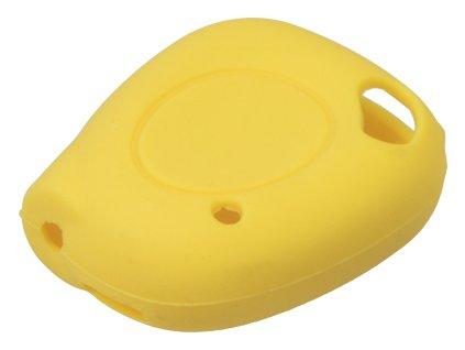 Silikónový obal pre kľúč Renault, 1-tlačidlový, žltý