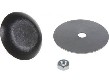 Záslepka otvoru, 30 mm čierna