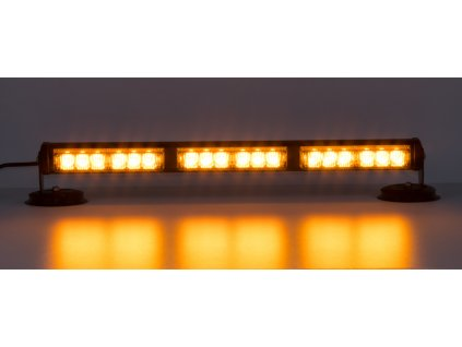 LED svetelná alej, 18x LED 1W, oranžová 500mm, ECE R10