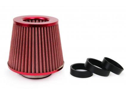 Vzduchový filter kužeľový + 3 adaptéry ČERVENÝ