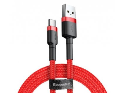 Kábel USB na USB-C BASEUS Cafule 1,5A 100cm červený