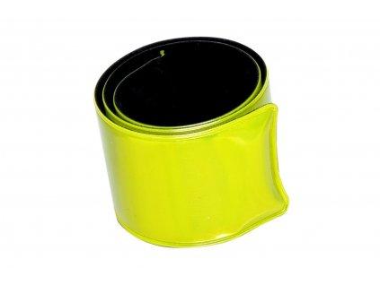 Reflexný sťahovací pásik - žltý
